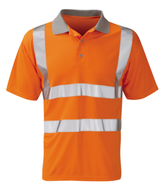 Orbit Hi Vis Polo Shirt Orange