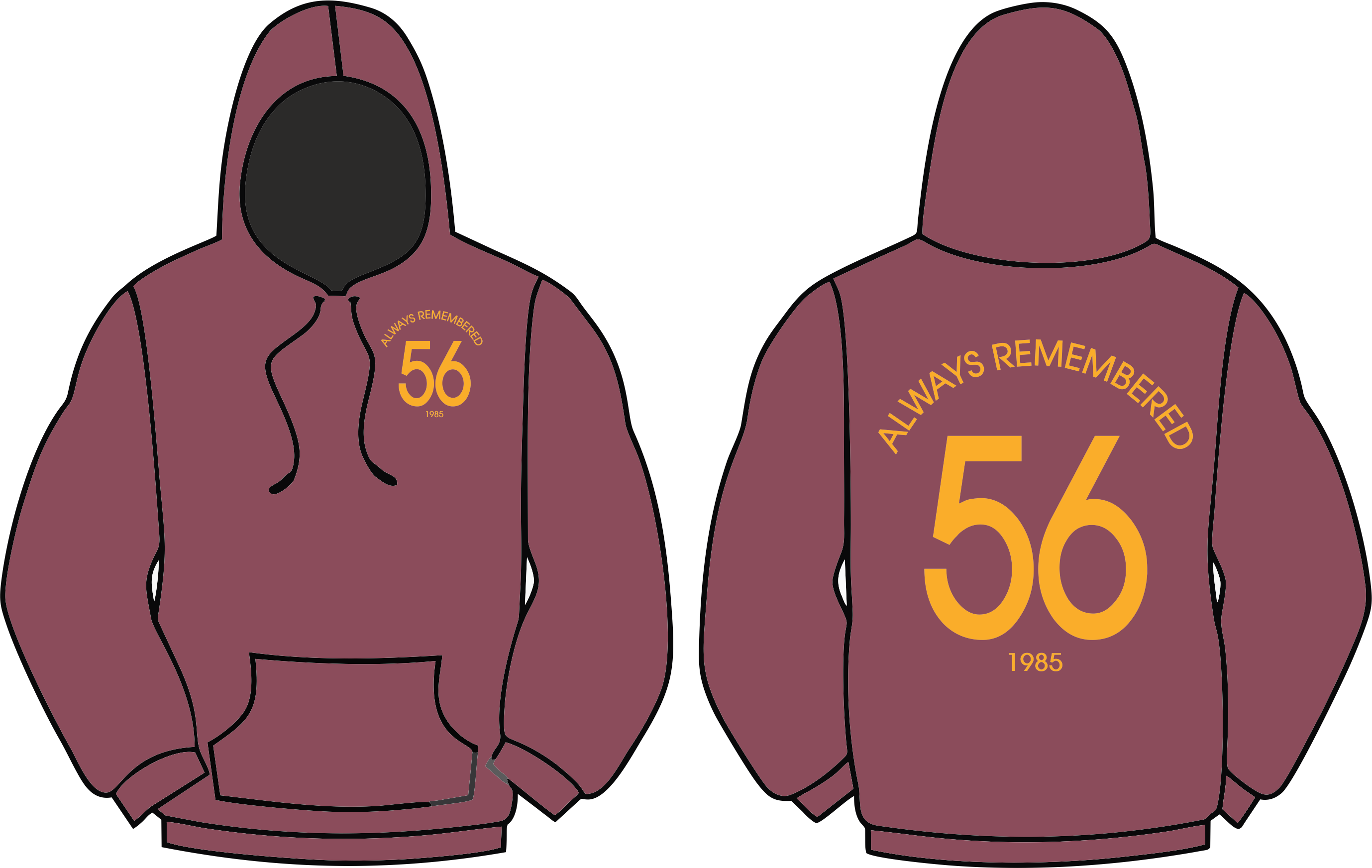 Always Remembered 56 Burns Unit Adult Hoodies Image